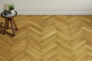 Real Wood Herringbone Flooring
